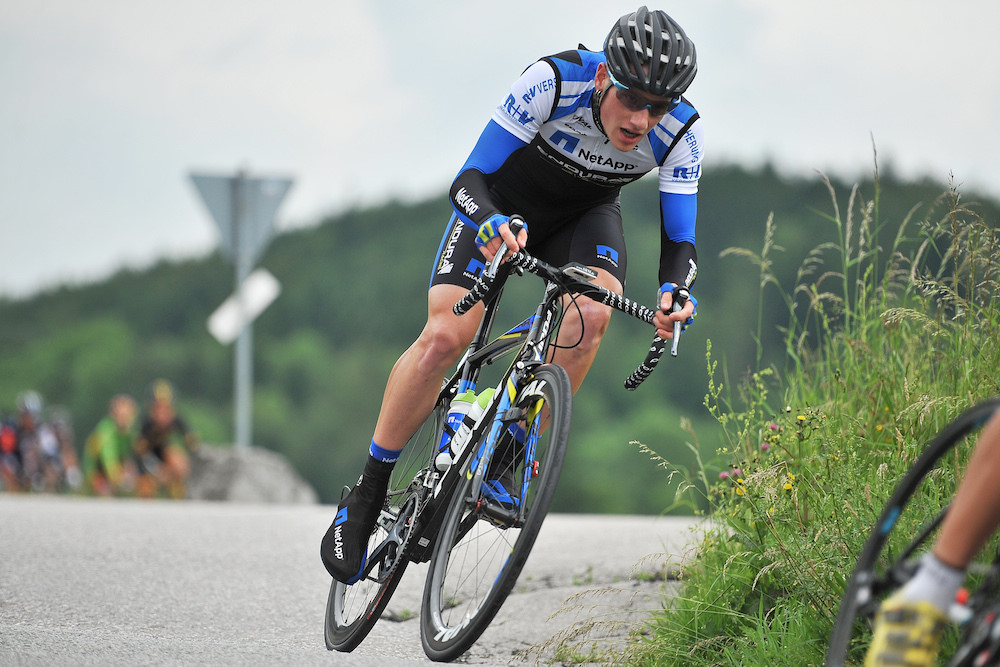 Sam Bennett at Bayern-Rundfahrt; he sprinted to victory in the fifth stage. Photo: TNE/Stiehl