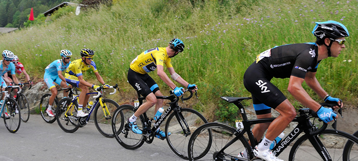 Chris Froome, Alberto Contador, and Vincenzo Nibali
